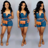 Summer Two Pieces Set Sexy Off Shoulder Shorts Suit 2 Piece Outfits For Women@