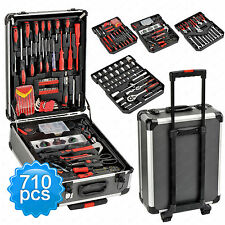 710 pc Tool Set Socket Wrench Standard Metric Mechanics Kit w/ Trolley Case Box