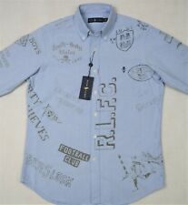 Polo Ralph Lauren Oxford Graphic Shirt Diary Stencil Classic Fit M & L NWT $168