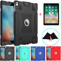 Silicone Shockproof Case Cover For iPad 9.7 2018/6th Gen/Air 2+Screen Protector