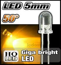 418J# LED 5mm ronde 50° jaune dispo 10, 25 ou 100pcs yellow LED 5mm gyga bright