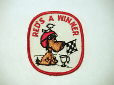 "Vintage NOS ""Red's A Winner"" Alouette Snowmobile Patch BR"
