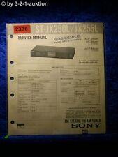 Sony Service Manual ST JX250L / JX255L Tuner  (#2336)