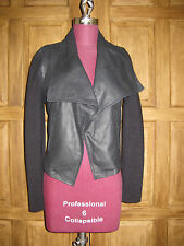 JOIE Caviar Black Jevon Leather Drape Front Jacket XS NWT Lang Wang Vince Rag