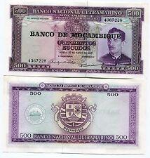 Mozambique P119 500 Escudos Banknote Unc/xf Banco Nacional Ultramarino