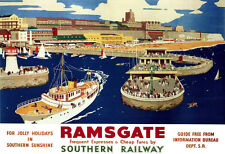 Ramsgate for Jolly Holidays in Southern Sunshine South Rail Travel  Poster Print