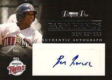 BEN REVERE 2007 Tristar Farm Hands Authentic RC Autograph Los Angeles Angels