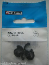 5 x Wedtite Cycle Bike Hydraulic Housing C-Clips / Hose Brake & Gear Cable Clips