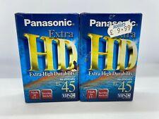 Panasonic Extra Hd Ec-45 High Grade Vhs-C Video Camcorder Tape Cassette X 2 NEW