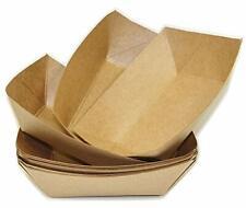 100 Brown Kraft Disposable Food Trays Food Trucks restaurants Catering Supplies