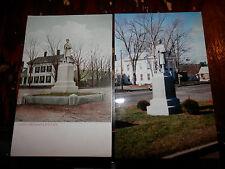 ALTON NH - CIVIL WAR - SOLDIERS MONUMENT - OLD Postcard plus MODERN PHOTO