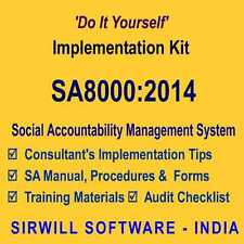 SA8000:2014 Social Accountability System Manuals, Forms, and, Training Kit