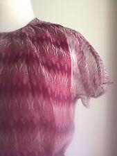 Vintage Tokyo Summer Chiffon Dress. Fabulous Fabric Pattern