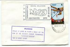 1972 Splashdown Apollo 17 Lands in Pacific Day of Event Cook Island Space Cover