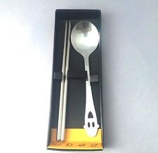 Chopsticks Stainless Steel & Spoon Set Kitchen Tableware Dining Metal Gift New