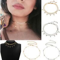 Women Fashion Ball Pendant Chain Choker Chunky Bib Statement Necklace Jewelry