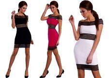 Knielange Damenkleider mit Carmen-Ausschnitt für Clubwear-Anlässe