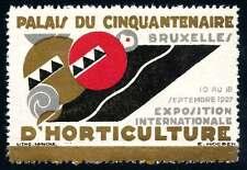 Belgium Poster Stamp - 1927 Horticulture Exposition - Artist E. Hoeben