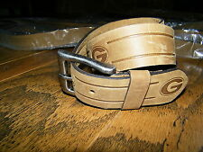 University of Georgia Bulldogs Brown Leather Belt Size 46""