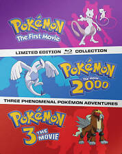 Pokemon~ Complete 1-3 (1 2 3) Movie Collection ~ BRAND NEW 3-DISC BLU-RAY SET