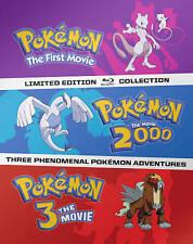 Steel book Blu ray Pokemon - The First Movie/ Pokemon 2000/ Pokemon 3 The Movie