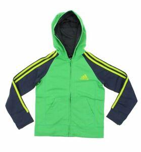 Adidas Youth Fleece Full Zip Hoodie, Green
