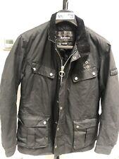 Mens Barbour International Duke Wax Jacket Black Military Style Coat Size M