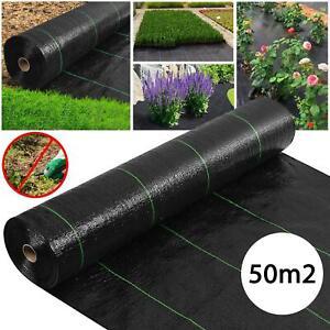 50m2 Unkrautvlies Gartenvlies Wasserdurchlässig Reißfest Unkraut Schutz Garten