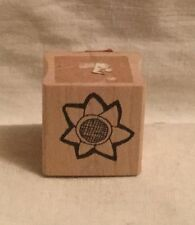 Stephanie Olin's Open Flower Wood Rubber Stamp