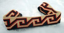 TWIST OF FATE ORIGINAL DESIGN HANDLOOMED BEADED HATBAND  - Continuous Circle