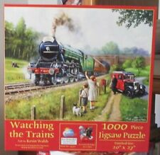 WATCHING THE TRAINS BY KEVIN WALSH - Complete - SUNSOUT PUZZLE