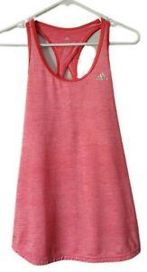 Adidas Climalite Women's Salmon Pink Red Racerback Tank Top Size Medium