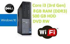 Dell 7010 Desktop i3 3rd Gen PC Computer - 8GB RAM - 500GB HDD Windows 10 Pro