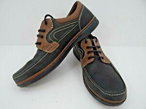 CLARKS - SUPERLIGHT Men's Boat Shoe Grey & Tan Size 11