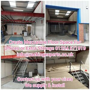 Create Mezzanine Floor Space For Offices or Extra Storage 01254 671919
