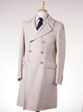 NWT $2995 BELVEST Ivory Wool-Cashmere Polo Coat Slim 40 R (Eu 50) Overcoat