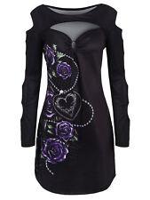 Plus Size XL-5XL Women T-Shirt Blouse Tops Floral Ladder Cutout Sleeve Rose