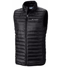 COLUMBIA Mens LT (LARGE TALL) Flash Forward Down Vest Black Lightweight Jacket