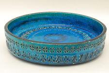 Bitossi Italy Plat vintage ceramic rimini blu 1307  Italy ceramiche Aldo Londi