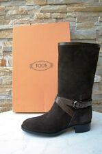 Tods Tod´s Gr 40,5  Stiefel Boots Stivali Shoes Veloursleder braun neu UVP 560 €