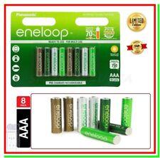 8 Eneloop Pile Ricaricabili AAA Batterie Ministilo 750mAh Botanic HR03 2100cicli