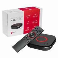 MAG 425A Android TV 8.0 4K HEVC 5G WIFI Bluetooth télécommande vocale Chromecast