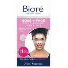 Biore Deep Cleansing Pore Strips for Nose & Face, 14 Combo Strips