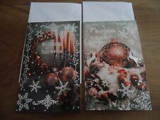 2 CARTES  MERRY CHRISTMAS + 2 ENVELOPPES BLANCHES -  dim.12  * 19 cm