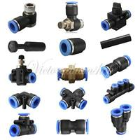 New Pneumatic Push In Fittings Connector for Air/Water Hose & Tube Airline