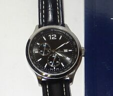 JACQUES LEMANS 40MM MEN WATCH WITH BLACK LEATHER BAND IN ORIGINAL BOX
