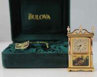 Bulova Miniature Declaration of lndependence Clock B0579 Brass Collectible