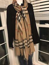 Burberry Scarf Giant Novacheck Scarf Wrap Poncho Wool Silk