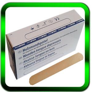 Holzspatel 100 | 200 | 300 | 600 oder 5000 Holzmundspatel 150x18mm  ►Händler◄