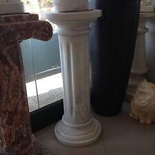 COLONNA IN MARMO BIANCO RIGATA 80 TONDA-COLONNE-CAPITELLO Carrara marble column